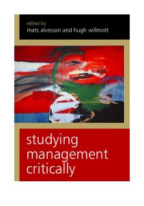 Studying Management Critically