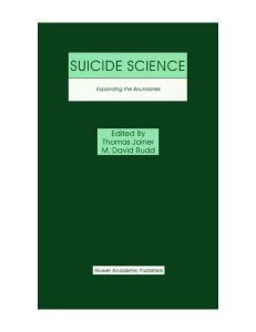 Suicide science: expanding the boundaries