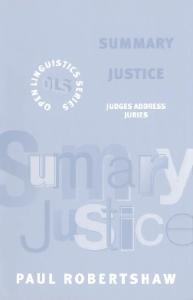 Summary justice: judges address juries