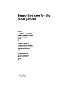 Supportive Care for the Renal Patient (Supportive Care)