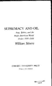 Supremacy and Oil