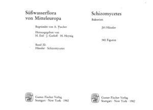 Süßwasserflora von Mitteleuropa: Schizomycetes