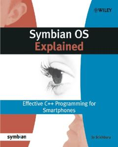 Symbian OS Explained. Effective C++ Programming for Smartphones