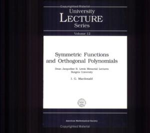 Symmetric Functions and Orthogonal Polynomials