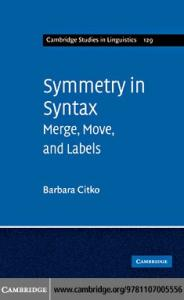 Symmetry in Syntax: Merge, Move and Labels (Cambridge Studies in Linguistics)