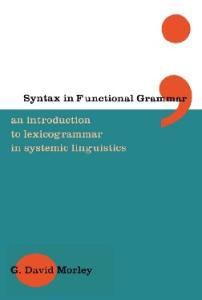 Syntax in Functional Grammar