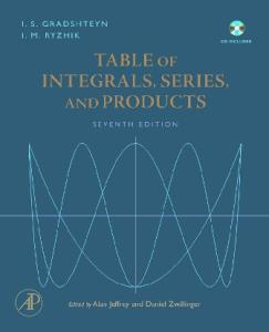 Tables of integrals, series, and products
