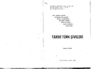 Târîhî Türk Şîveleri