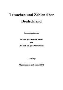Tatsachen und Zahlen über Deutschland