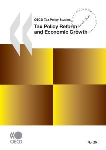 Tax Policy Reform and Economic Growth, OECD Tax Policy Studies