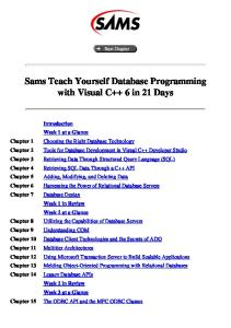 Teach Yourself Database Programming with Visual C++ in 21 Days