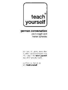 Teach Yourself German Conversation (with Audio)