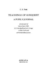Teachings of Gurdjieff
