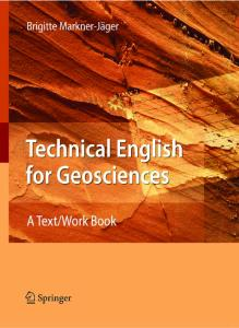 Technical English for Geosciences: A Text Work Book