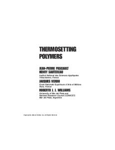 Termosetting polymers