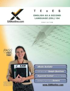 TExES English as a Second Language (ESL) 154 (XAM TEXES)