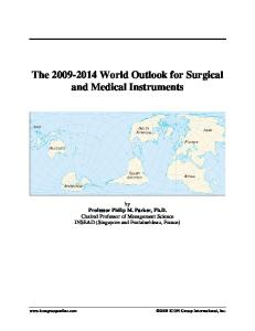 The 2009-2014 World Outlook for Surgical and Medical Instruments