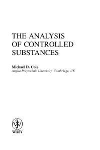 The Analysis of Controlled Substances: A Systematic Approach