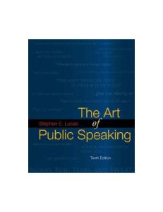 The Art of Public Speaking, 10th Edition