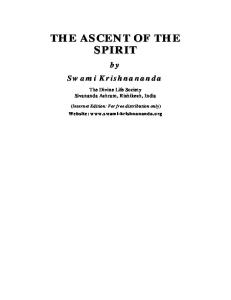 The Ascent of the Spirit