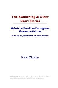 The Awakening & Other Short Stories (Webster's Portuguese Thesaurus Edition)