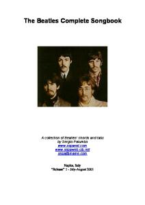 The Beatles Complete Songbook - Release