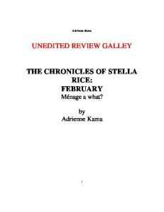 The Chronicles of Stella Rice