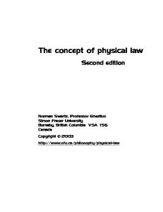 the concept of physical law