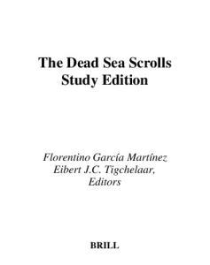 The Dead Sea Scrolls Study Edition-Two Vol. Set (Vol 1 & 2)