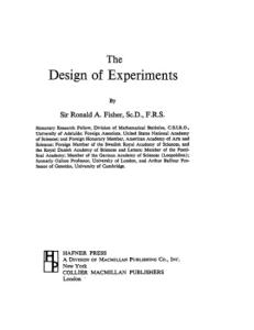 The Design of Experiments, Ninth Edition