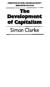 The Development of Capitalism