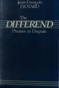 The Differend: Phrases in Dispute