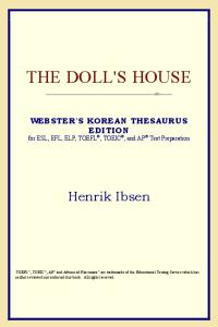 The Doll's House (Webster's Korean Thesaurus Edition)