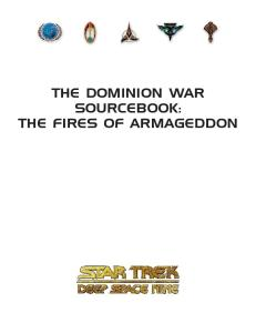 The Dominion War Sourcebook: The Fires of Armageddon