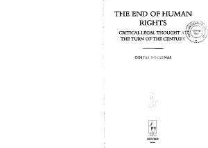 The End of Human Rights