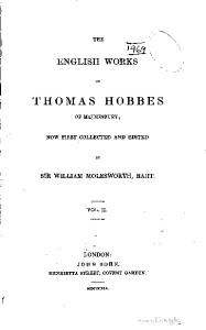 The English works of Thomas Hobbes of Malmesbury-02
