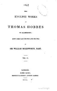 The English works of Thomas Hobbes of Malmesbury-04