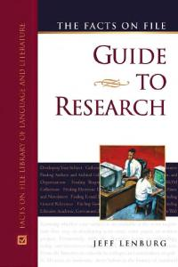 The Facts On File Guide To Research (Facts on File Library of Language and Literature)