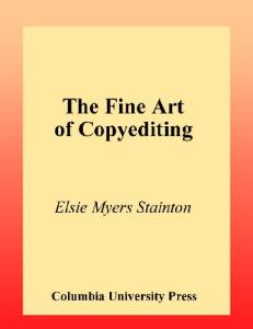 The Fine Art of Copyediting, Second Edition