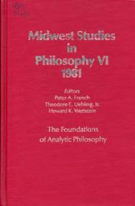 The Foundations of Analytic Philosophy
