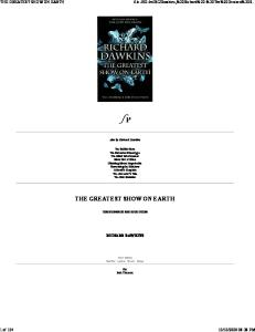 The Greatest Show on Earth-The Evidence For Evolution