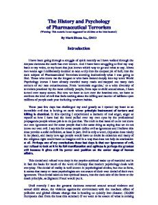 The History and Psychology of Pharmaceutical Terrorism