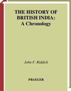 The History of British India: A Chronology