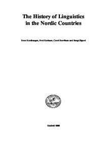 The History of Linguistics in the Nordic Countries