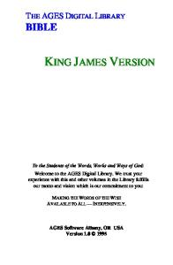 The Holy Bible - New Testament - King James Version