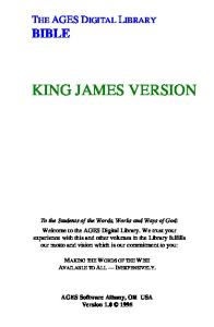 The Holy Bible - Old Testament - King James Version