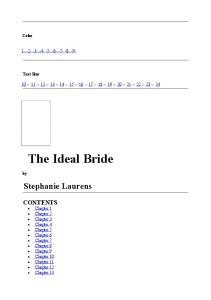 The Ideal Bride