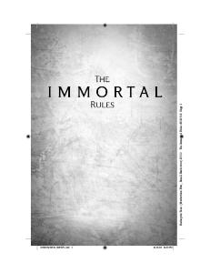 The Immortal Rules (ARC)