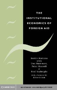 The Institutional Economics of Foreign Aid