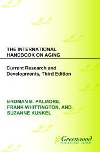 The International Handbook on Aging, Third Edition
